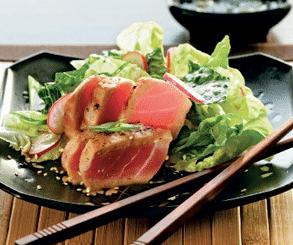 """Салат теплый с тунцом """"Японский"""" с кусочками имбиря"""
