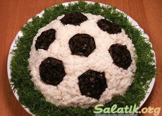 Салат футбольный мяч рецепт