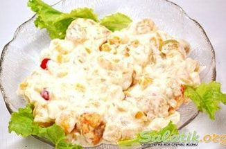 Салат сибирский с сухариками