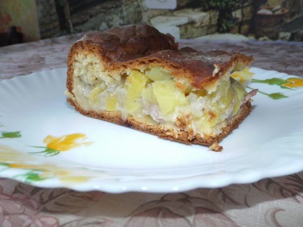 Пирог с мясом и картошкой