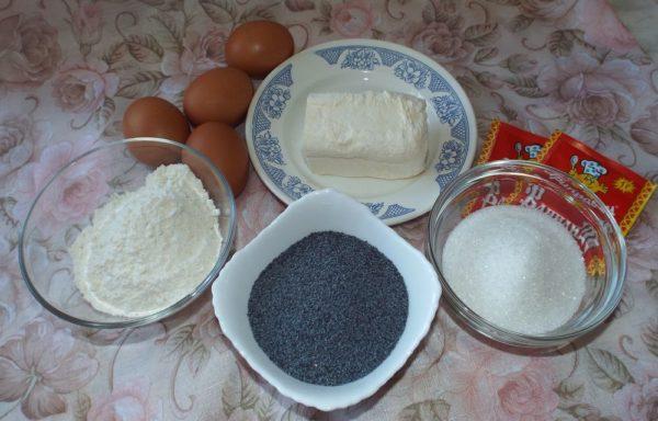 Продукты для макового торта