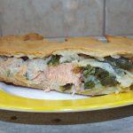 Пирог с рыбой и зеленой фасолью