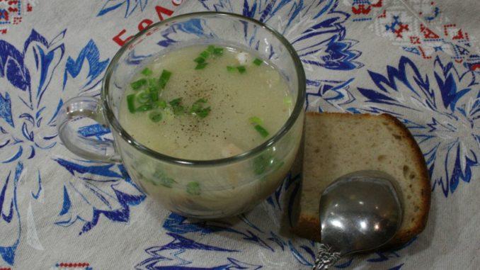 Рыбный суп с сыром