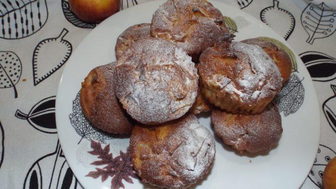 Яблочные кексы