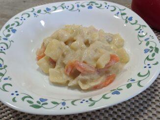Овощи в молочном соусе